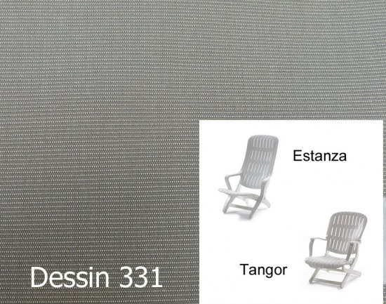 Melegant Auflage Sessel Estanza / Tangor Allibert Des. 331 100% Polyacryl