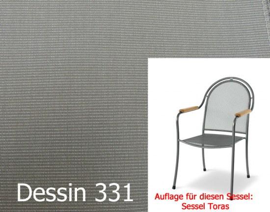 Melegant Auflage zu Sessel Toras Des.331 100% Polyacryl