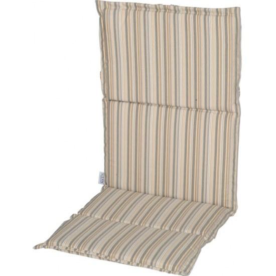 Stern Auflage Stapelsessel in Streifen taupe 100% Polyester