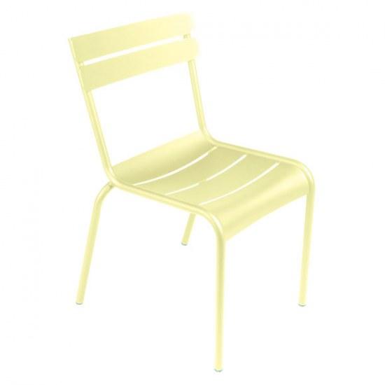 Fermob Luxembourg Stuhl oder Sessel wählbar, in zitronensorbet, Aluminiumgestell