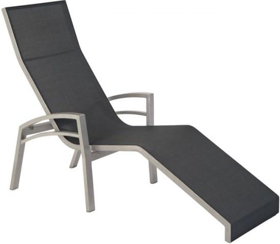 Sungörl Relaxliege Balance graphit Bezug silbergrau Aluminium