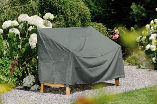 Stern Schutzhülle für Gartenbank 2sitzer 100% Polyester in grau