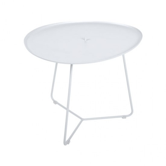Fermob Niedriger Tisch Cocotte in Farbe weiss- Stahl