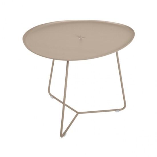 Fermob Niedriger Tisch Cocotte in Farbe muskat- Stahl