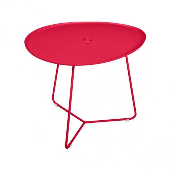 Fermob Niedriger Tisch Cocotte in Farbe rose praline- Stahl