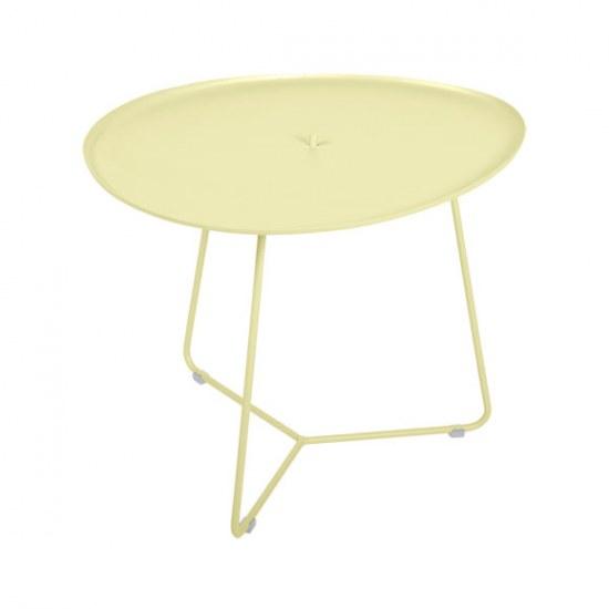 Fermob Niedriger Tisch Cocotte Farbe zitronensorbet - Stahl
