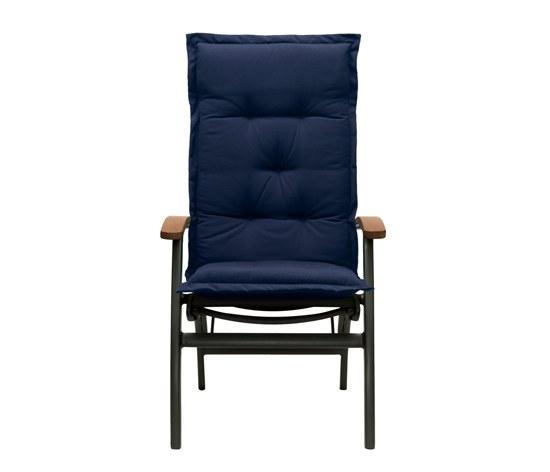 auflage f r sonnenliege oder gartenliege in blau im dessin. Black Bedroom Furniture Sets. Home Design Ideas