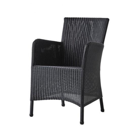Cane Line Sessel Hampsted in black, Stahlrohrgestell mit Kunststoffgeflecht
