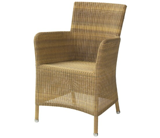 Cane Line Sessel Hampsted in natur, Stahlrohrgestell mit Kunststoffgeflecht