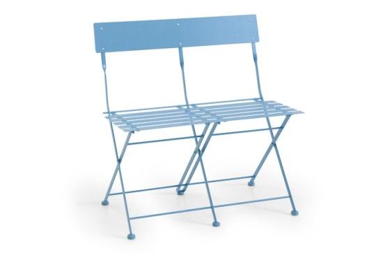 Brafab Gartenbank Arno - pulverbeschichtes Stahl in blau
