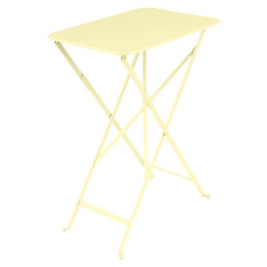 Fermob Tisch Bistro / Floreal in zitronensorbet versch. Größen wählbar, Stahlgestell beschichtet