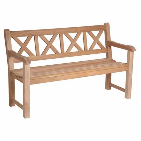 Alexander Rose Gartenbank Drachmann 3sitzer aus Mahagoni-Holz