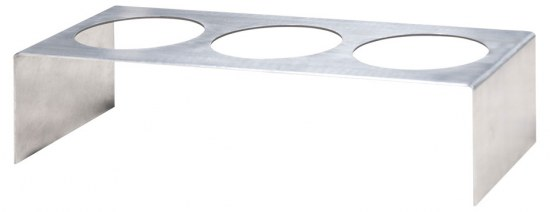 Zebra Flaschenhalter für Tisch Quadux - Edelstahl