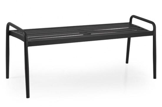 Brafab Gartenbank Sonnac ohne Rücken , Aluminium schwarz