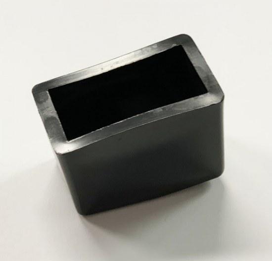 Jendrass Fusskappe eckig 40x20 mm schwarz