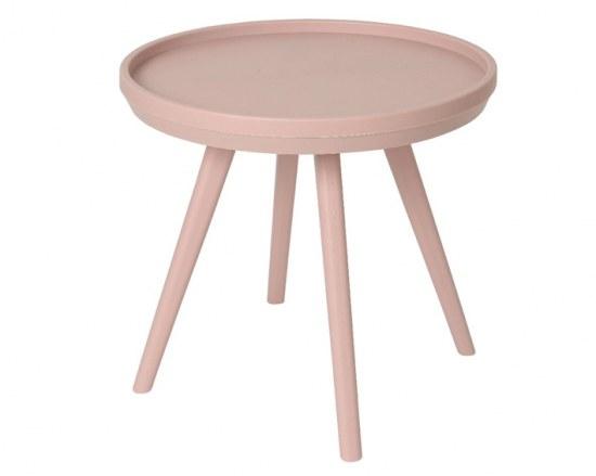 Kaemingk Beistelltisch Miami pink 50,5 cm rund - Kunststoff
