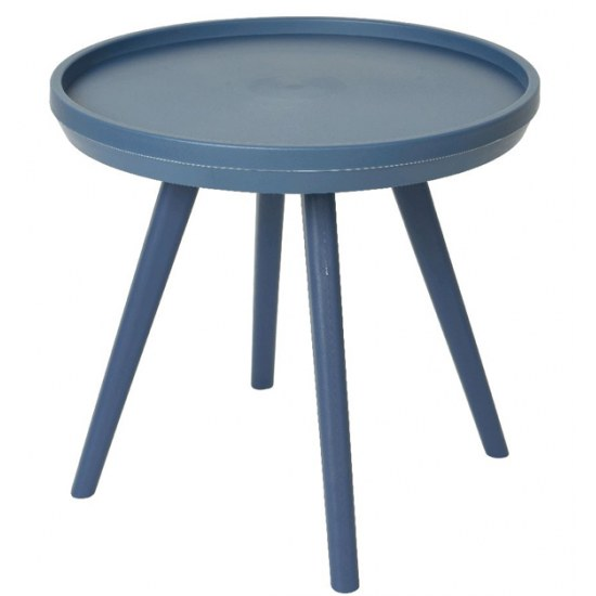 Kaemingk Beistelltisch Miami blau 50,5 cm rund - Kunststoff