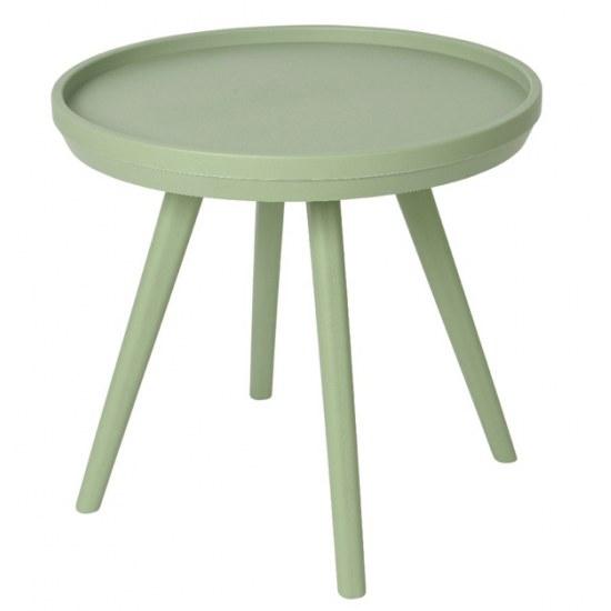 Kaemingk Beistelltisch Miami grün 50,5 cm rund - Kunststoff
