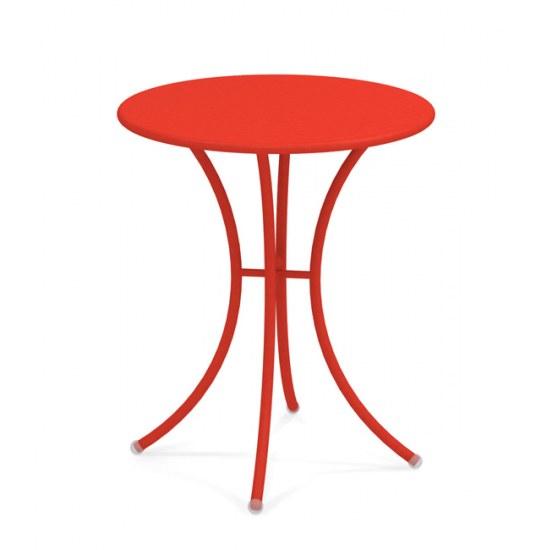 EMU Tisch Pigalle 60 cm in rot Stahl pulverbeschichtet