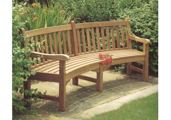Barlow Gartenbank Glenham RADIUS aus Teakholz