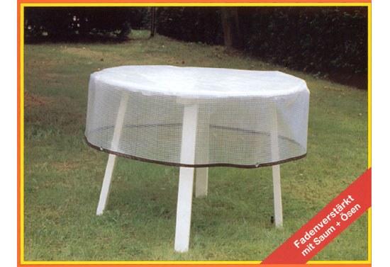 Top Abdeckhaube für Gartentisch 120 cm in transparent - Gartenmöbel  XE26