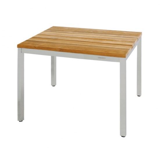 Zebra Style Gartenmobel : Tisch Oko in 150×90 cm aus recyceltem Teakholz mit einem modernen