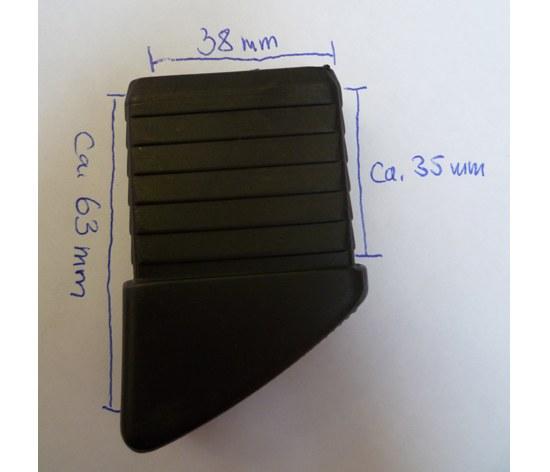 Kettler Herlag Fusskappe für Kettler Futura 38x18 mm schwarz