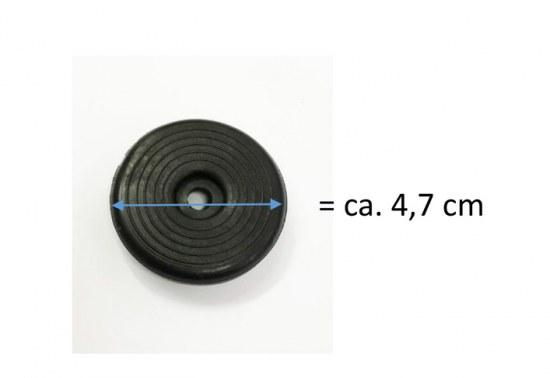 Jendrass Fusskappe Teller 47 mm schwarz