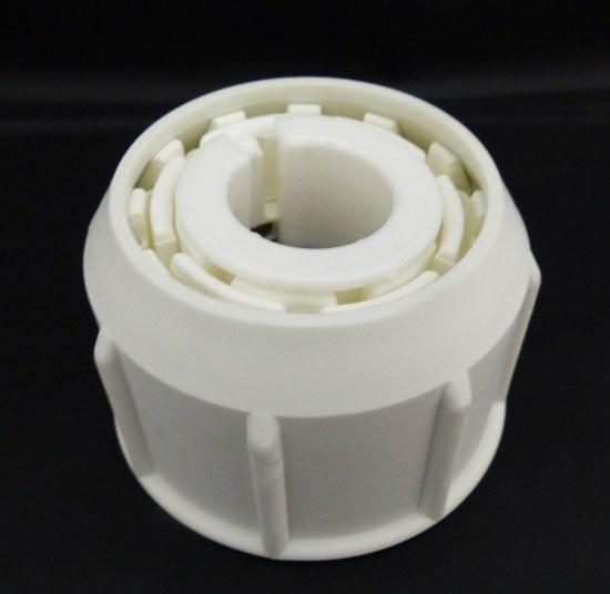 Delschen Überwurfmutter für Sonnenschirmständer aus Kunststoff weiss für Sonnenschirmstock 26-55mm