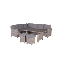 Loungegruppe Minesota Farbe passion , Alu/Polyrattan, inkl. Auflagen 100 % Polyester Farbe sand