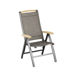Klappsessel Memphis Kettler Alu/ Outdoorgewebe, Farbe anthrazit/bronze