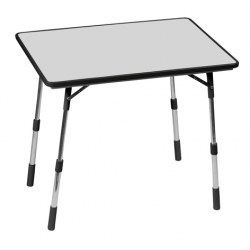 Campingtisch Mayotte in carbonfarbe, 80x57 cm, Aluminumfussgestell