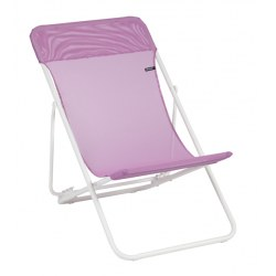Liegestuhl Maxi Transat in Farbe lilas, lackiertes Stahlrohr mit 72% PVC, 28% Polyester