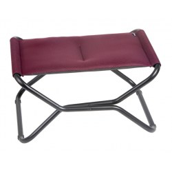 Hocker Next in Farbe bordeaux, Stahl/ Bezug 100% Polyester Aircomfort