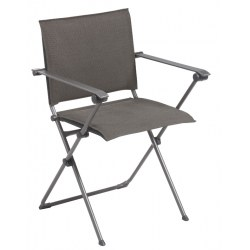 Campingsessel Anytime Farbton expresso, Stahl/ Textilengewebe 72% PVC, 28% Polyester