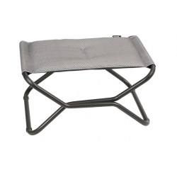 Hocker Next Be Comfort Farbe silver, Stahl/ Obermaterial 100% Polyester