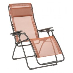 Relax Futura Clippe Farbe terracotta, Stahl - Bezug aus 72% PVC, 28% Polyester