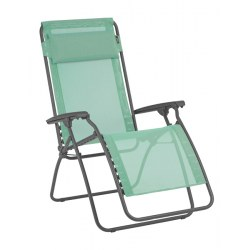 Relax R Clip Farbe menthol, Stahl lackiert mit Bezug aus Batyline (72% PVC, 28% Polyester )