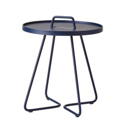 Beistelltisch On the move in mittel - Aluminium midnight blue