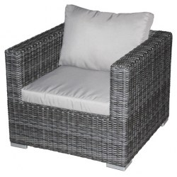 Jack Lounge Sessel im Farbton taupe inkl. Auflagen 100% Polyester